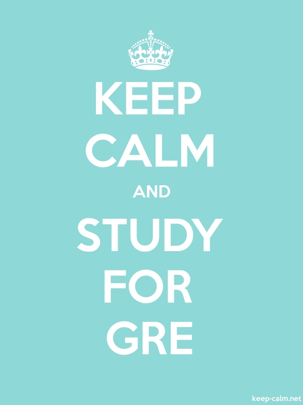 KEEP CALM AND STUDY FOR GRE - white/lightblue - Default (600x800)