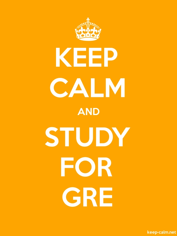 KEEP CALM AND STUDY FOR GRE - white/orange - Default (600x800)
