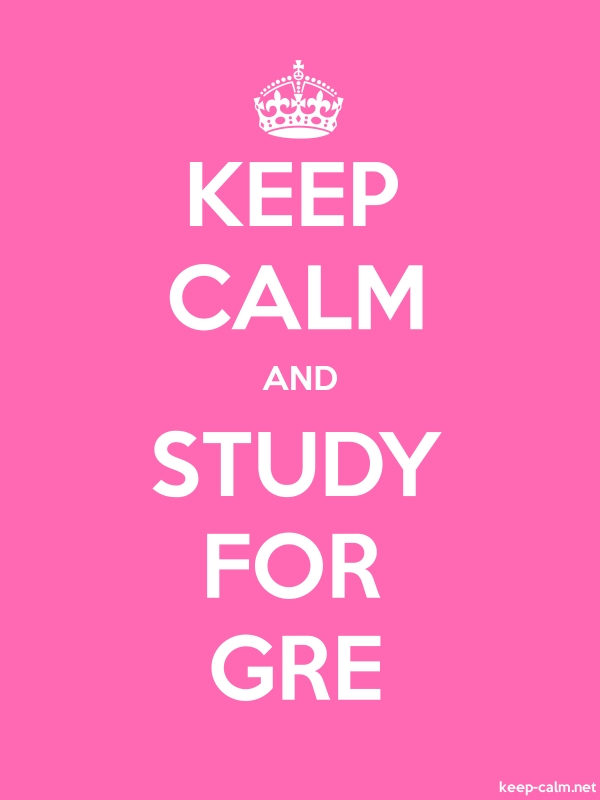 KEEP CALM AND STUDY FOR GRE - white/pink - Default (600x800)