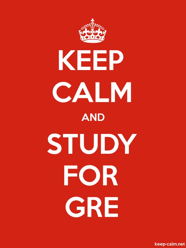 KEEP CALM AND STUDY FOR GRE - white/red - Default (600x800)