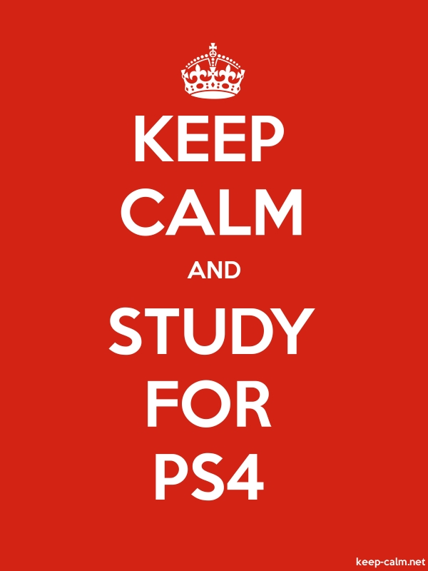 KEEP CALM AND STUDY FOR PS4 - white/red - Default (600x800)