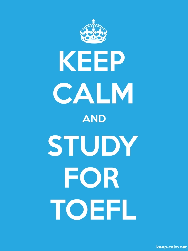 KEEP CALM AND STUDY FOR TOEFL - white/blue - Default (600x800)