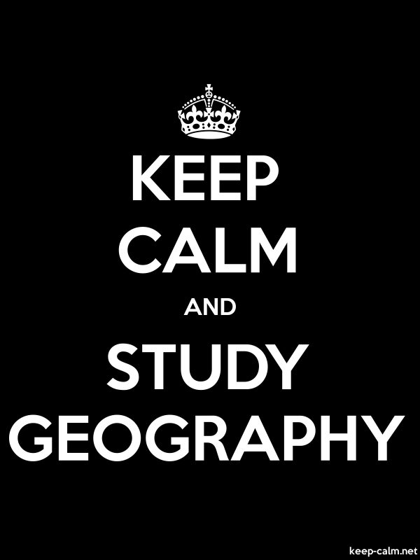 KEEP CALM AND STUDY GEOGRAPHY - white/black - Default (600x800)