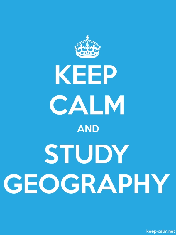 KEEP CALM AND STUDY GEOGRAPHY - white/blue - Default (600x800)