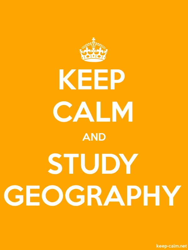 KEEP CALM AND STUDY GEOGRAPHY - white/orange - Default (600x800)