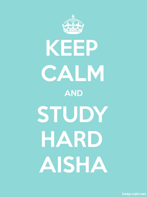 KEEP CALM AND STUDY HARD AISHA - white/lightblue - Default (600x800)