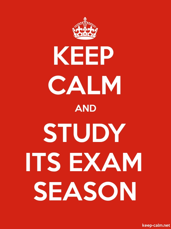 KEEP CALM AND STUDY ITS EXAM SEASON - white/red - Default (600x800)