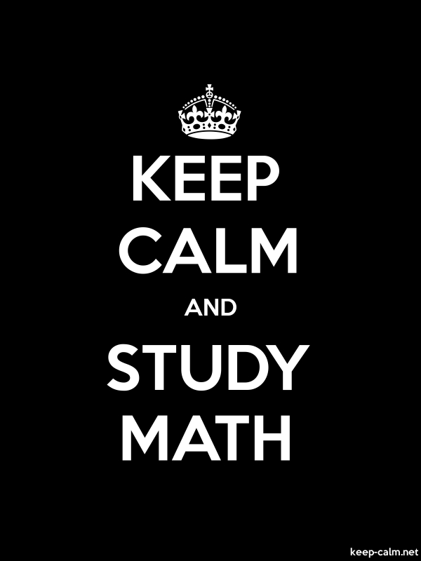 KEEP CALM AND STUDY MATH - white/black - Default (600x800)