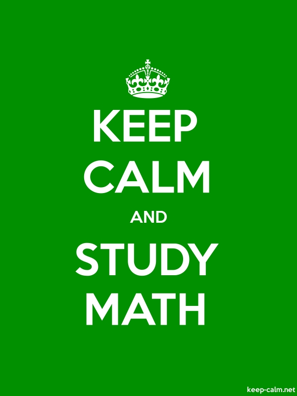 KEEP CALM AND STUDY MATH - white/green - Default (600x800)