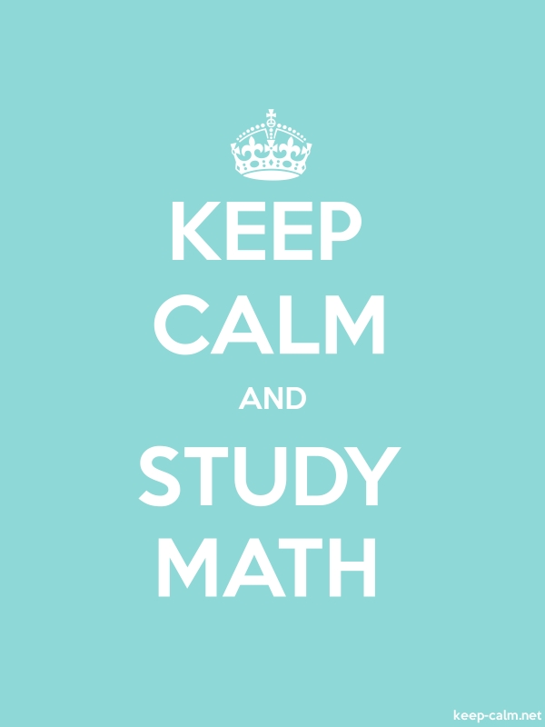 KEEP CALM AND STUDY MATH - white/lightblue - Default (600x800)