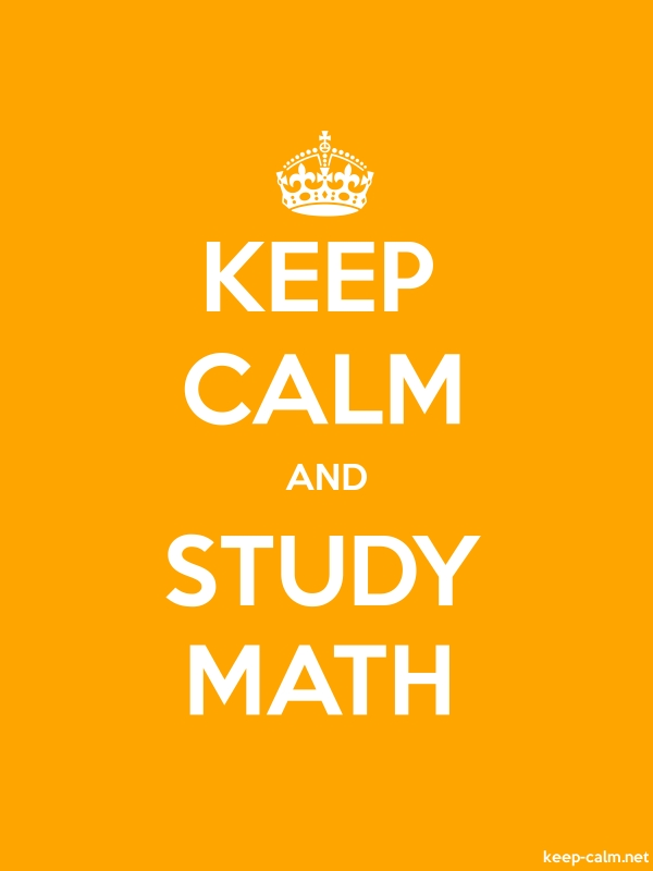 KEEP CALM AND STUDY MATH - white/orange - Default (600x800)