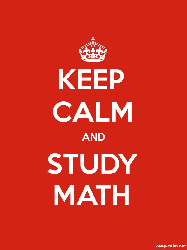 KEEP CALM AND STUDY MATH - white/red - Default (600x800)