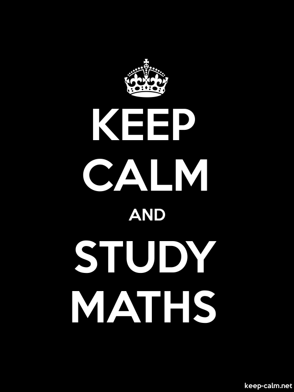 KEEP CALM AND STUDY MATHS - white/black - Default (600x800)