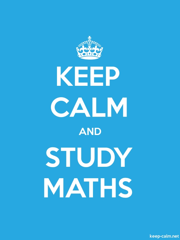 KEEP CALM AND STUDY MATHS - white/blue - Default (600x800)
