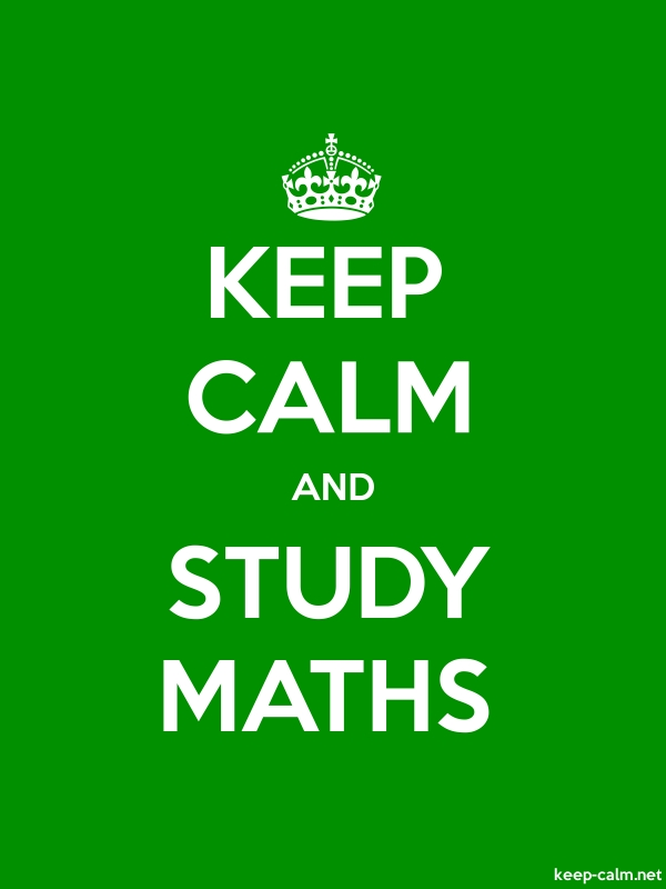 KEEP CALM AND STUDY MATHS - white/green - Default (600x800)