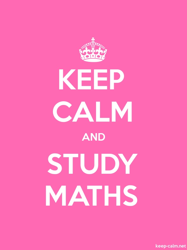 KEEP CALM AND STUDY MATHS - white/pink - Default (600x800)