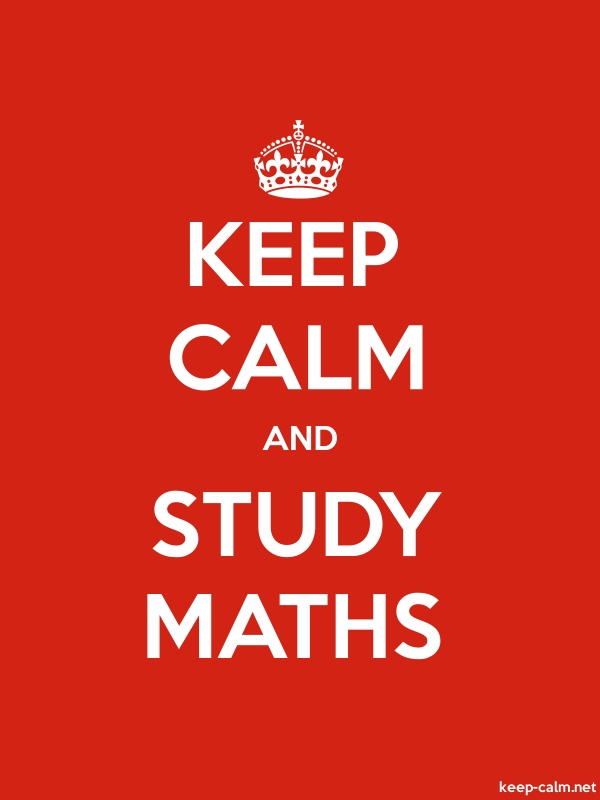 KEEP CALM AND STUDY MATHS - white/red - Default (600x800)
