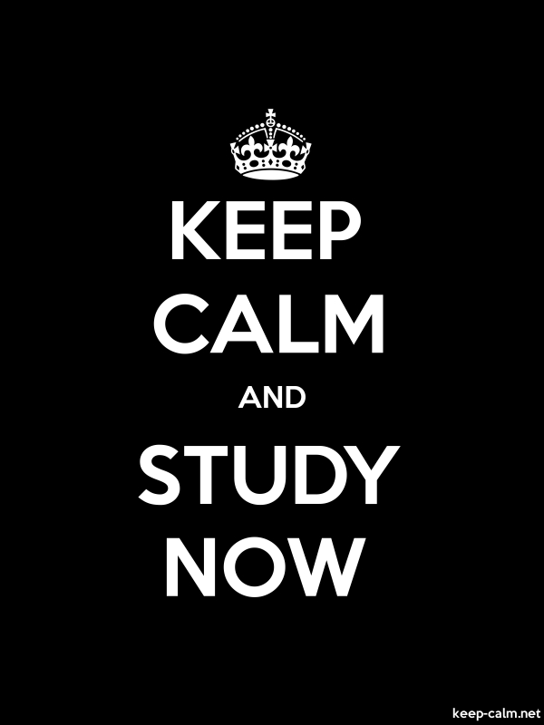KEEP CALM AND STUDY NOW - white/black - Default (600x800)