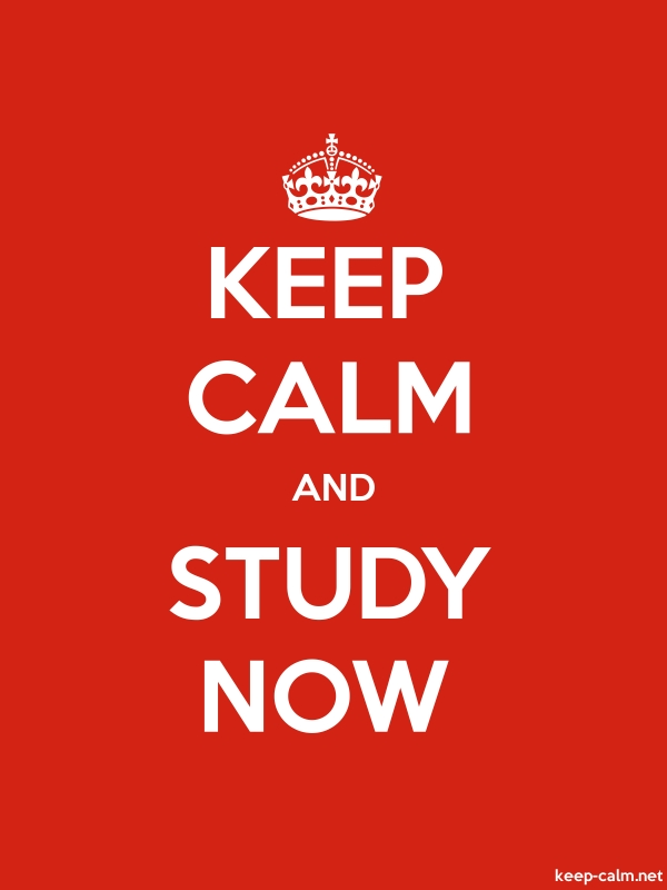 KEEP CALM AND STUDY NOW - white/red - Default (600x800)