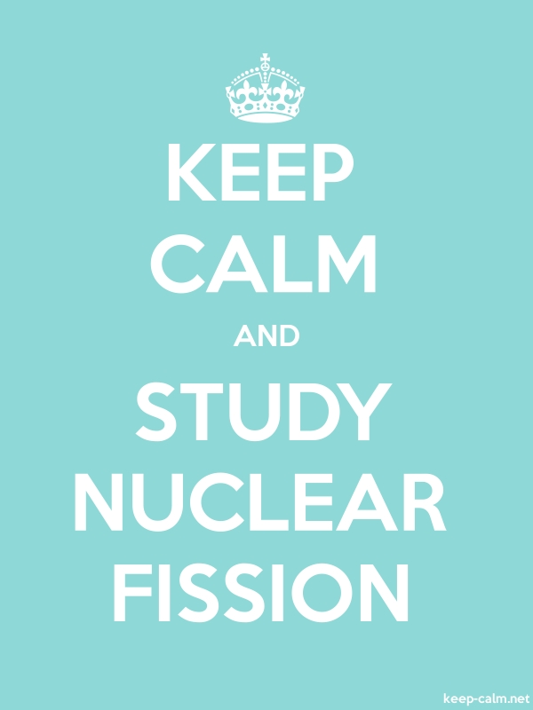 KEEP CALM AND STUDY NUCLEAR FISSION - white/lightblue - Default (600x800)
