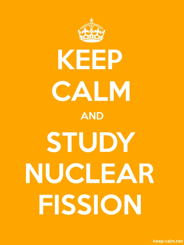 KEEP CALM AND STUDY NUCLEAR FISSION - white/orange - Default (600x800)