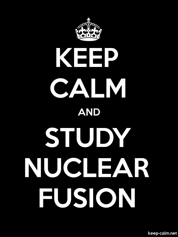 KEEP CALM AND STUDY NUCLEAR FUSION - white/black - Default (600x800)