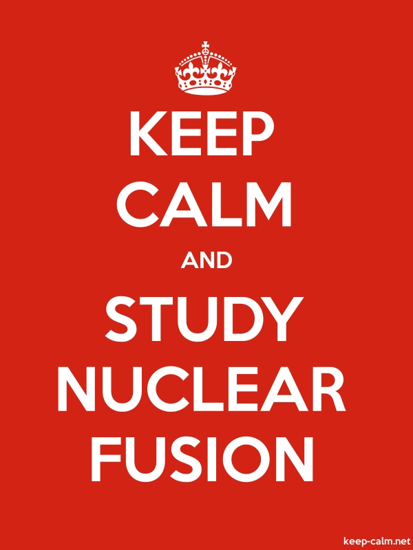 KEEP CALM AND STUDY NUCLEAR FUSION - white/red - Default (600x800)