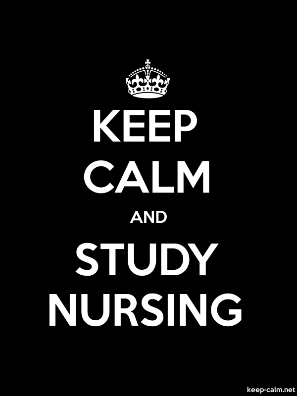 KEEP CALM AND STUDY NURSING - white/black - Default (600x800)
