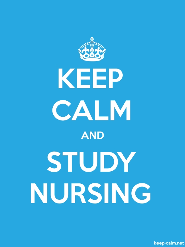 KEEP CALM AND STUDY NURSING - white/blue - Default (600x800)
