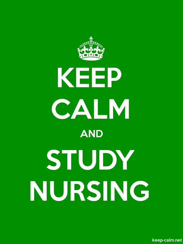 KEEP CALM AND STUDY NURSING - white/green - Default (600x800)