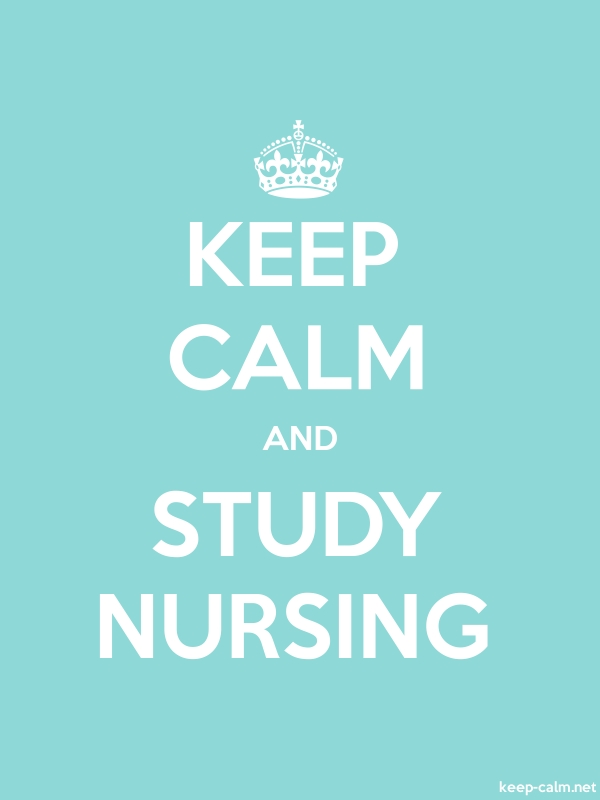 KEEP CALM AND STUDY NURSING - white/lightblue - Default (600x800)