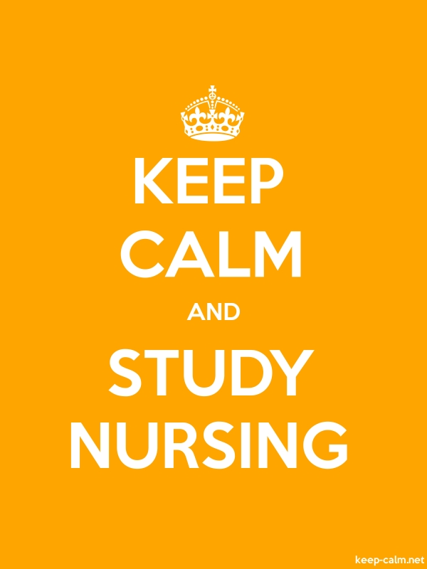 KEEP CALM AND STUDY NURSING - white/orange - Default (600x800)