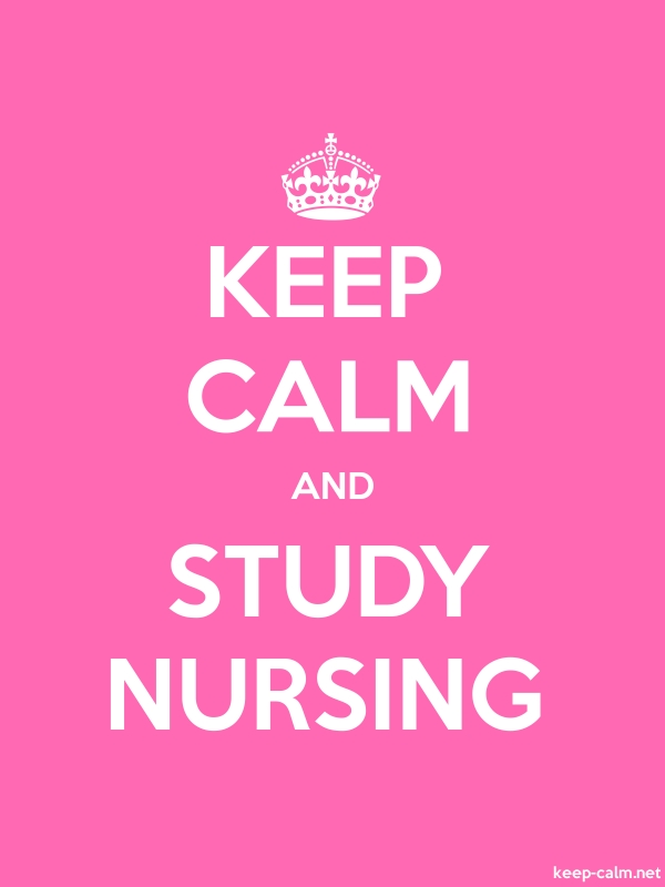 KEEP CALM AND STUDY NURSING - white/pink - Default (600x800)