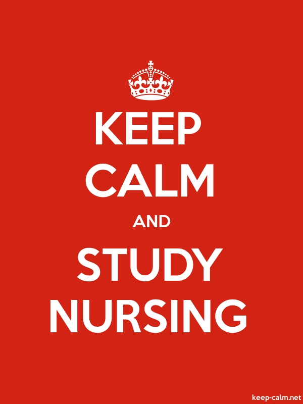 KEEP CALM AND STUDY NURSING - white/red - Default (600x800)