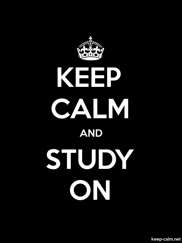 KEEP CALM AND STUDY ON - white/black - Default (600x800)