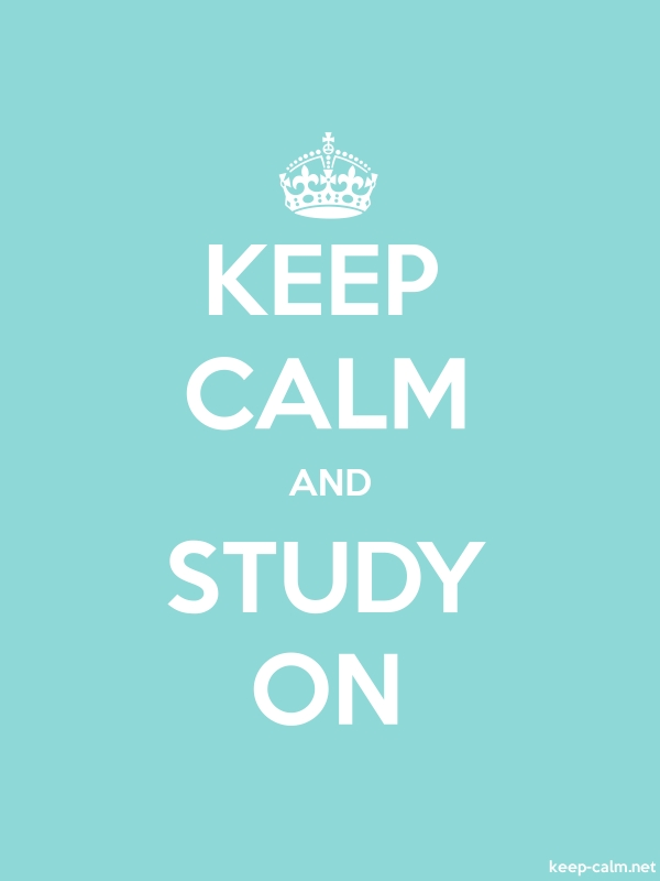 KEEP CALM AND STUDY ON - white/lightblue - Default (600x800)