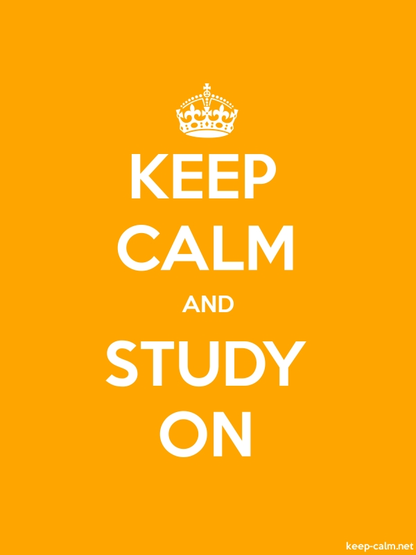 KEEP CALM AND STUDY ON - white/orange - Default (600x800)