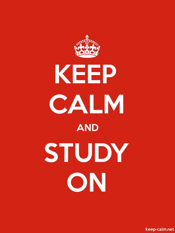 KEEP CALM AND STUDY ON - white/red - Default (600x800)