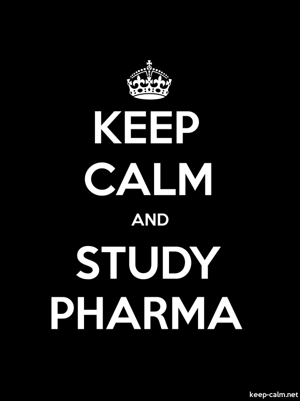 KEEP CALM AND STUDY PHARMA - white/black - Default (600x800)