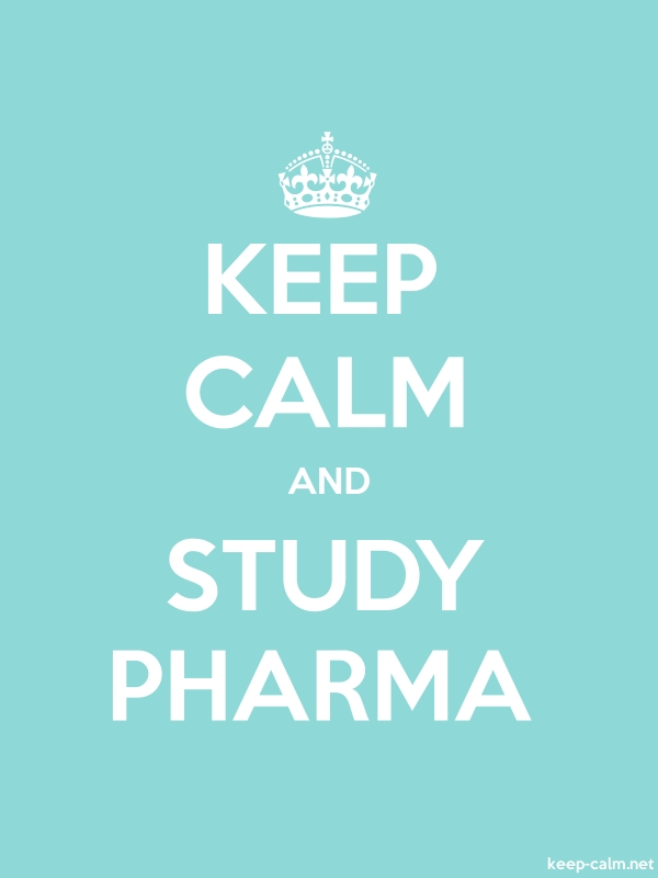 KEEP CALM AND STUDY PHARMA - white/lightblue - Default (600x800)