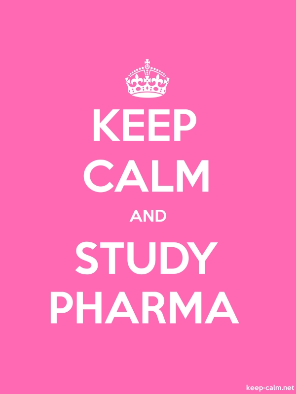 KEEP CALM AND STUDY PHARMA - white/pink - Default (600x800)