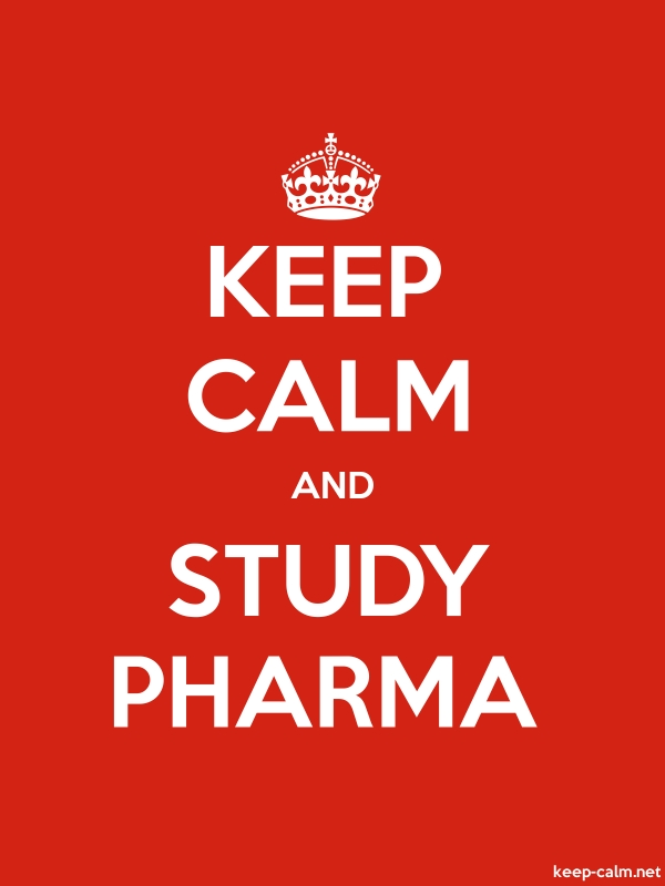 KEEP CALM AND STUDY PHARMA - white/red - Default (600x800)