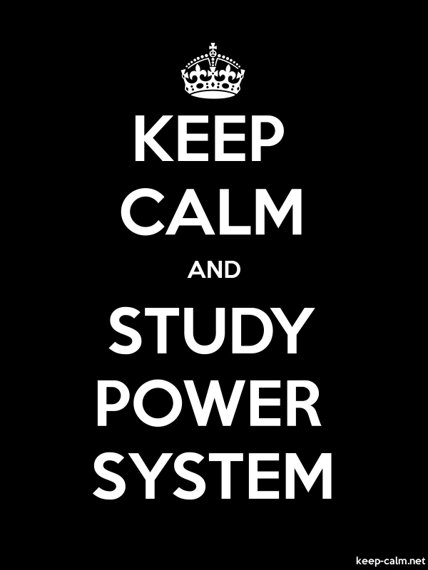 KEEP CALM AND STUDY POWER SYSTEM - white/black - Default (600x800)