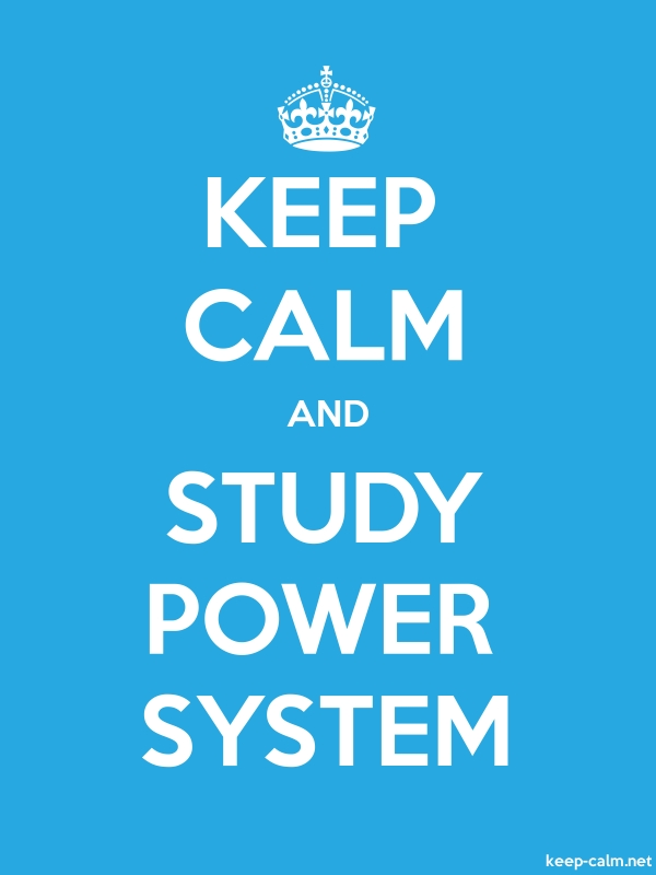 KEEP CALM AND STUDY POWER SYSTEM - white/blue - Default (600x800)