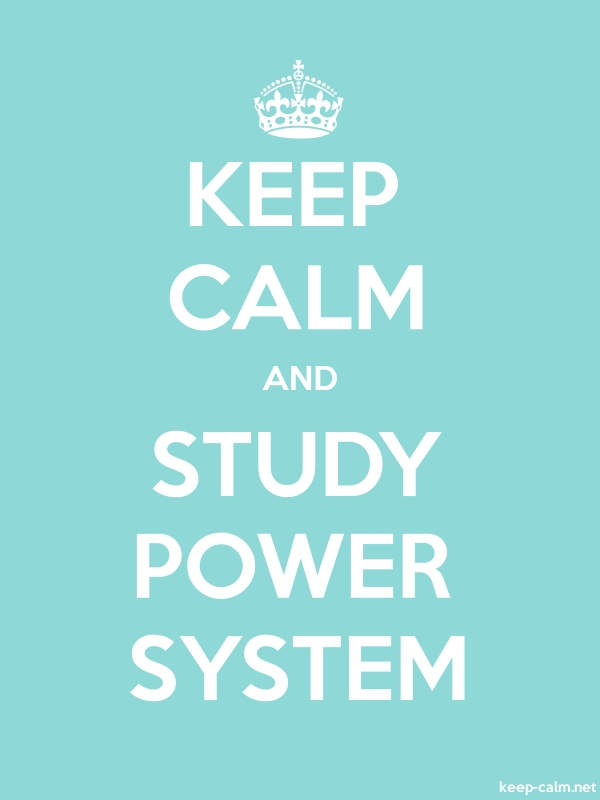 KEEP CALM AND STUDY POWER SYSTEM - white/lightblue - Default (600x800)