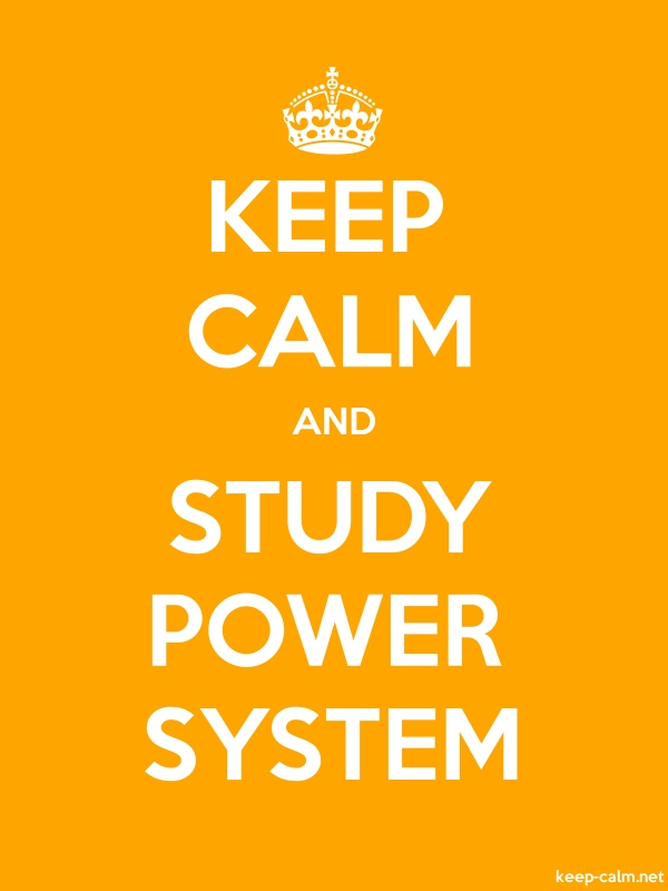 KEEP CALM AND STUDY POWER SYSTEM - white/orange - Default (600x800)