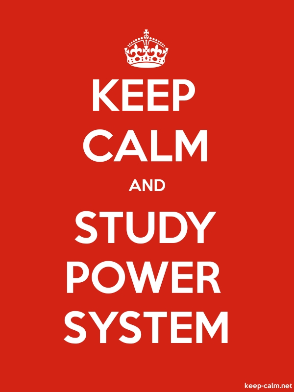 KEEP CALM AND STUDY POWER SYSTEM - white/red - Default (600x800)