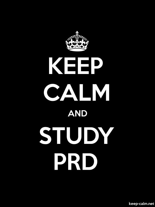 KEEP CALM AND STUDY PRD - white/black - Default (600x800)