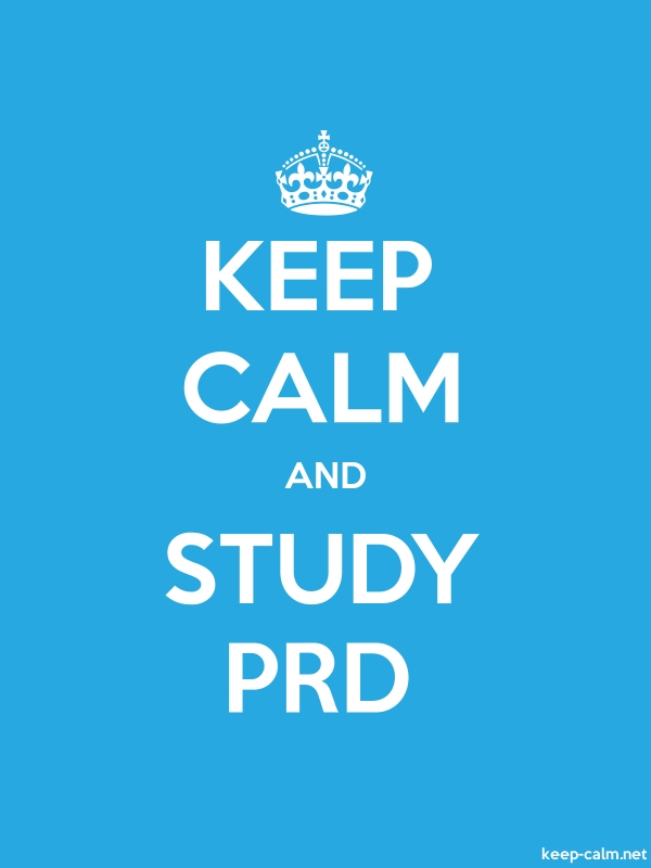 KEEP CALM AND STUDY PRD - white/blue - Default (600x800)