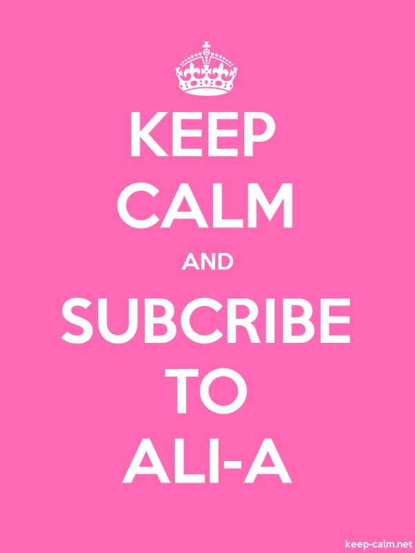 KEEP CALM AND SUBCRIBE TO ALI-A - white/pink - Default (600x800)